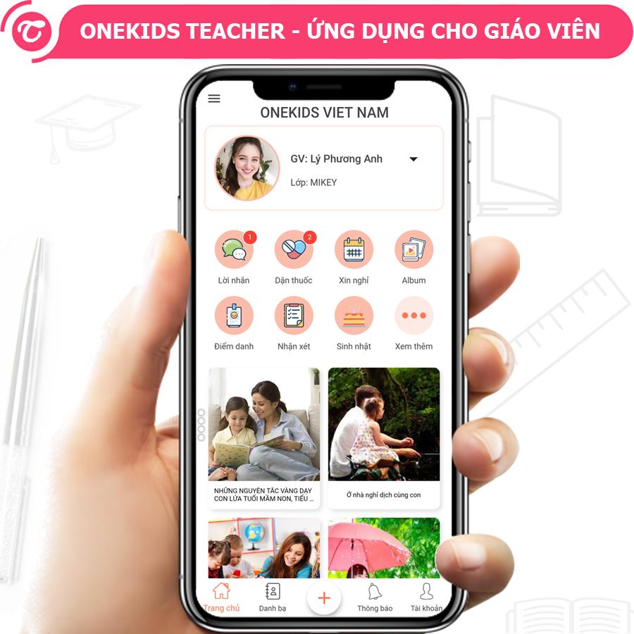 Phần mềm quản lý trường học, quản lý trường mầm non OneKids Teacher