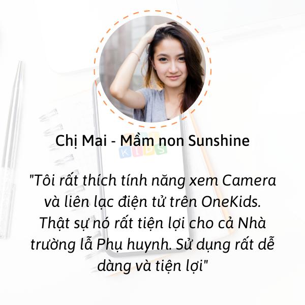 OneKids tích hợp xem Camera và sổ liên lạc điện tử trên ứng dụng. Tôi thích tính năng này.